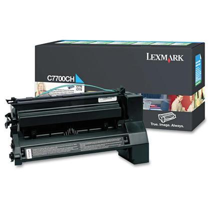 Lexmark C7700CH cartouche de toner du programme retour originale cyan haute capacite