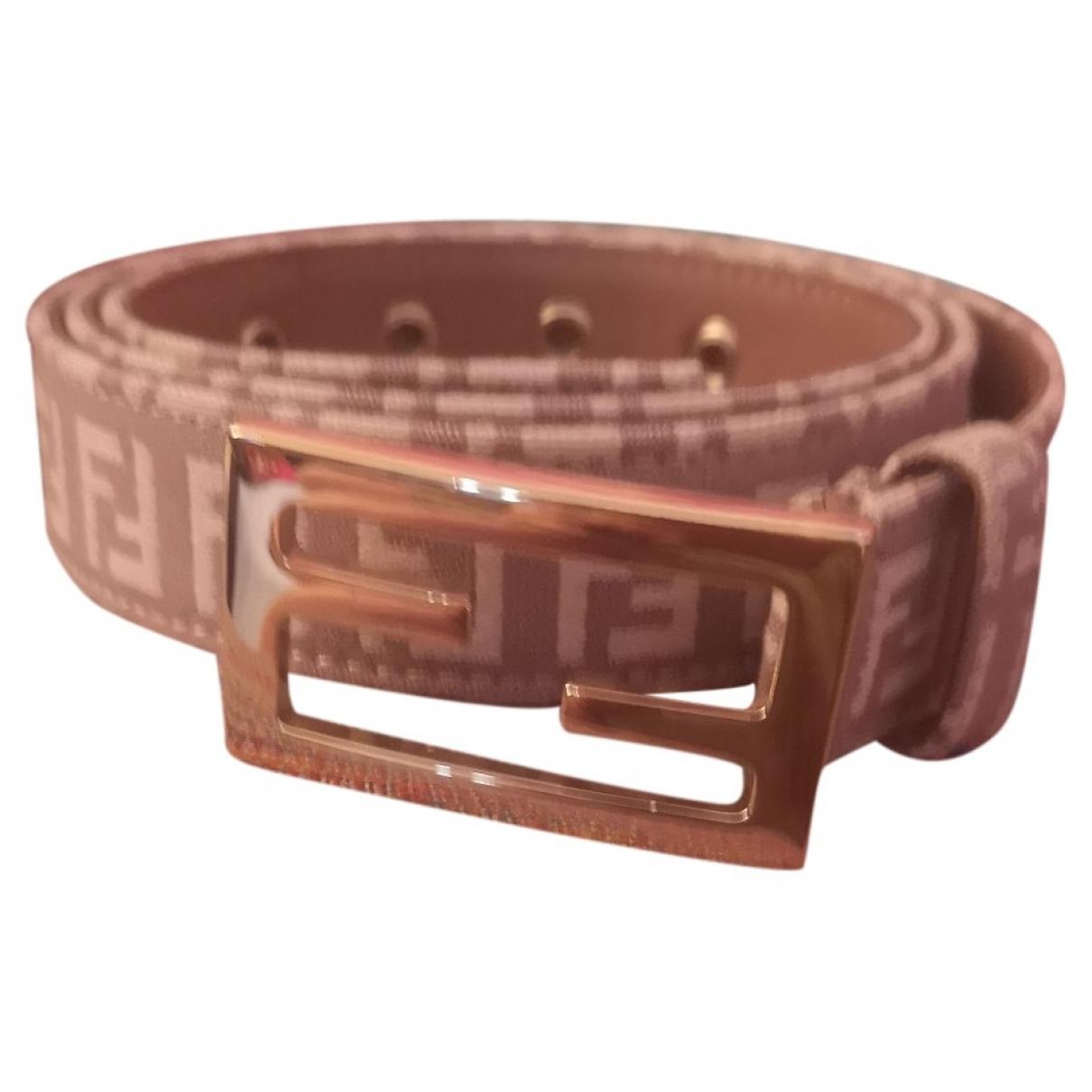 Fendi \N Pink Cloth belt for Women M International