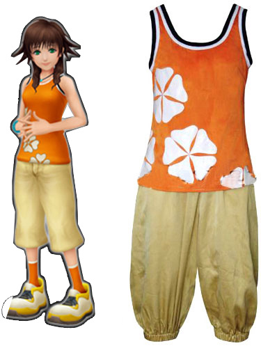 Milanoo Kingdom Hearts II Olette Cosplay Costume Halloween