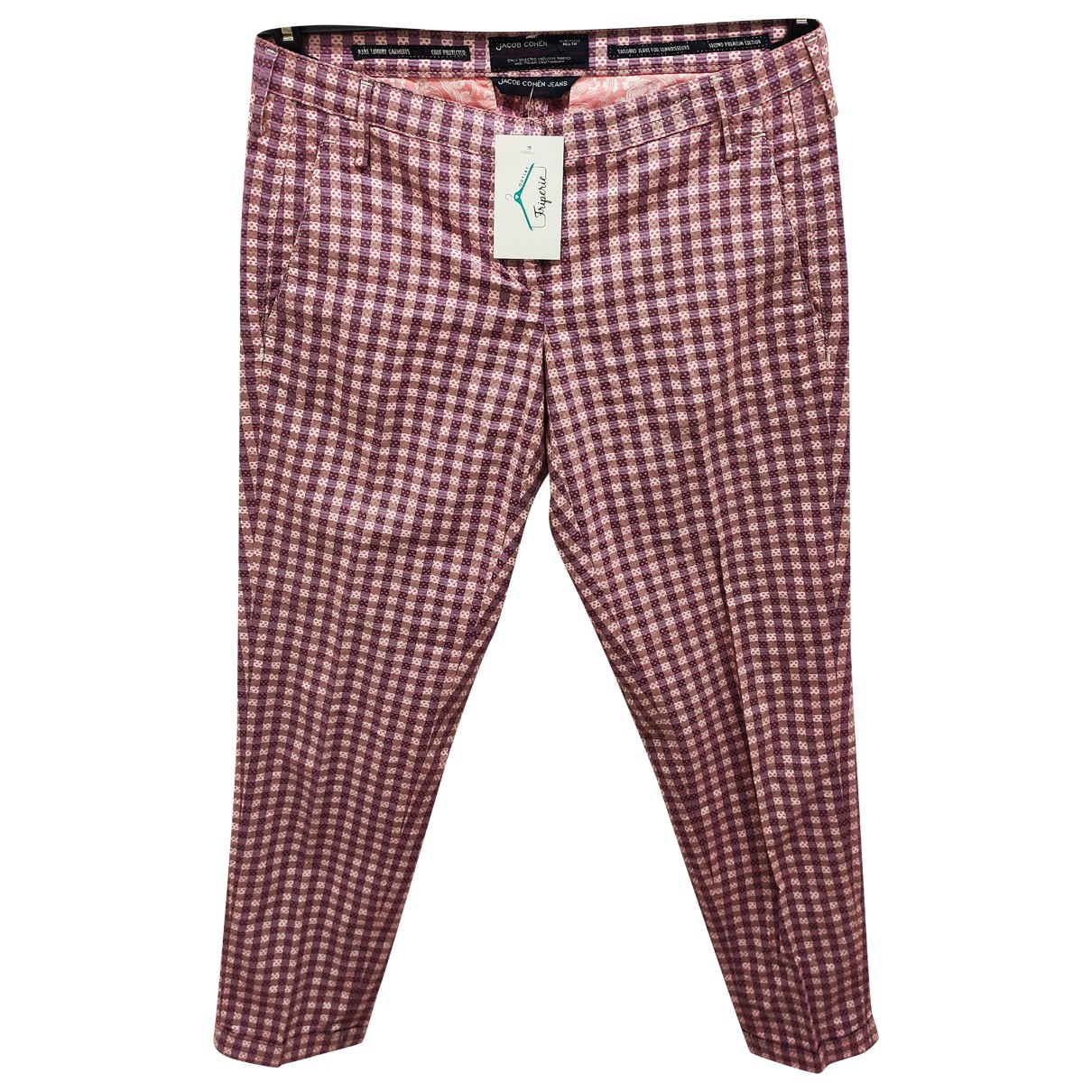 Jacob & Co \N Pink Cotton Trousers for Women 32 FR