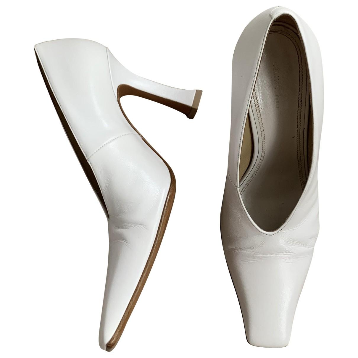 Celine \N White Leather Heels for Women 35 EU