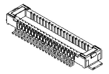 Molex , 501531, 40 Way, 2 Row, Straight PCB Header (1500)