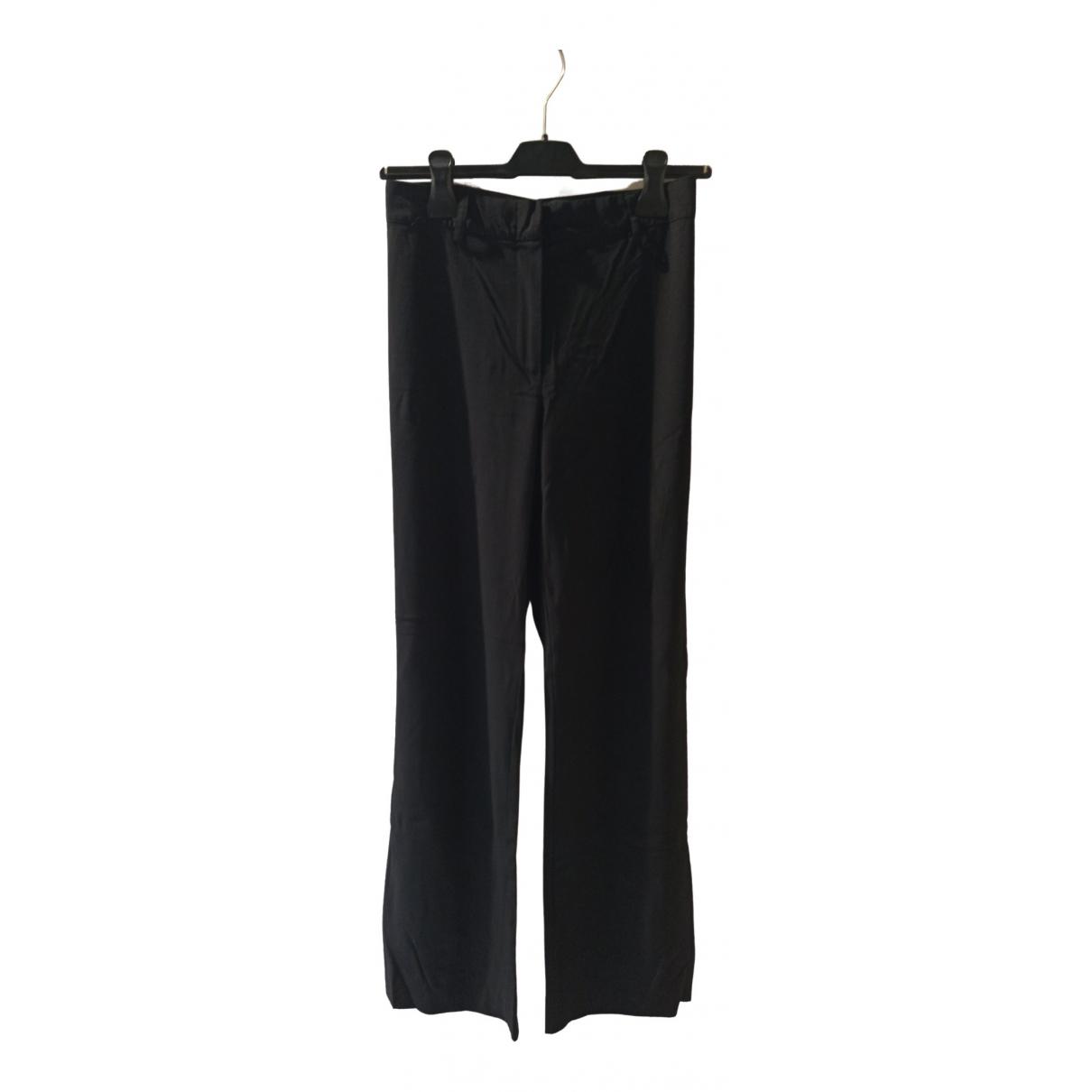 Aspesi \N Black Wool Trousers for Women 40 IT