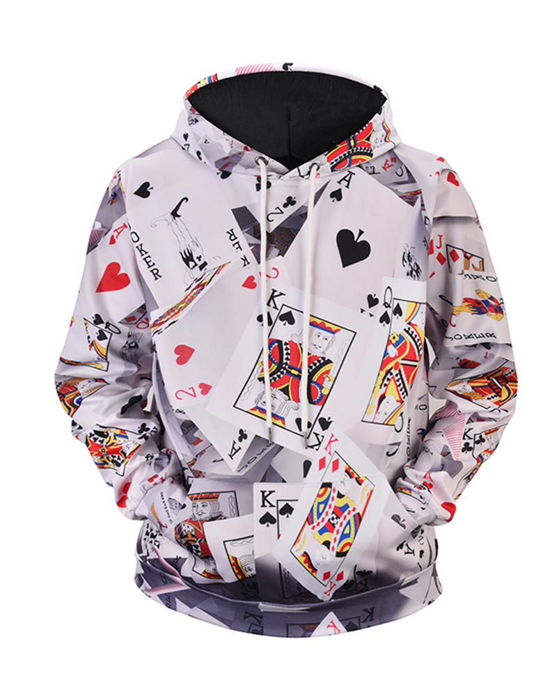 Creative Graphic Casual Style Loose Model Realistic 3D Painted Hoodie