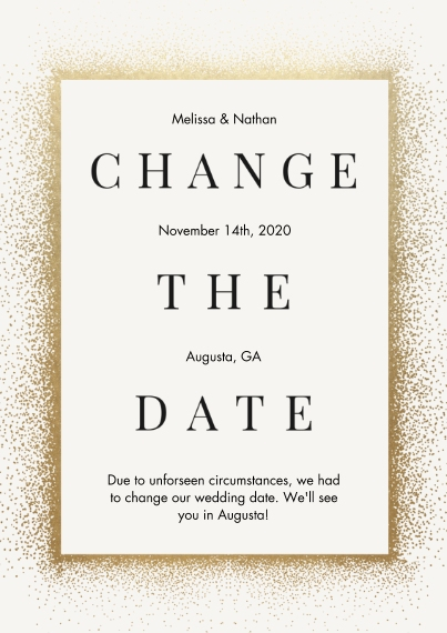 Change the Date Flat Matte Photo Paper Cards with Envelopes, 5x7, Card & Stationery -Confetti Change