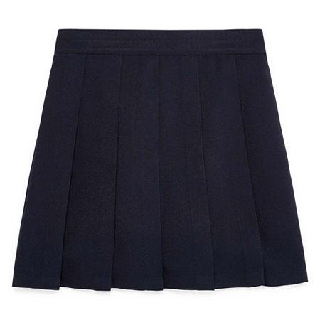 IZOD Comfort Waistband Little & Big Girls Scooter Skirt, 12.5 Plus , Blue