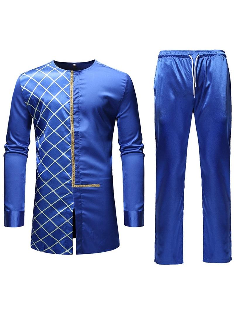 Ericdress African Fashion Dashiki Asymmetric Mens Casual Outfit