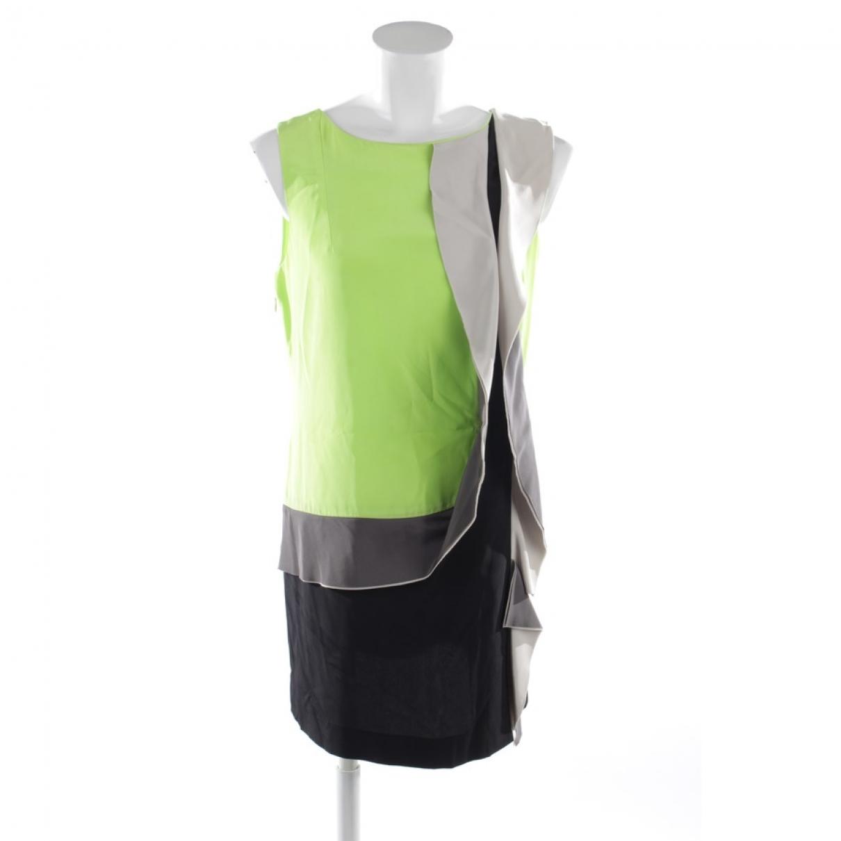 Diane Von Furstenberg \N Green Silk dress for Women 8 US