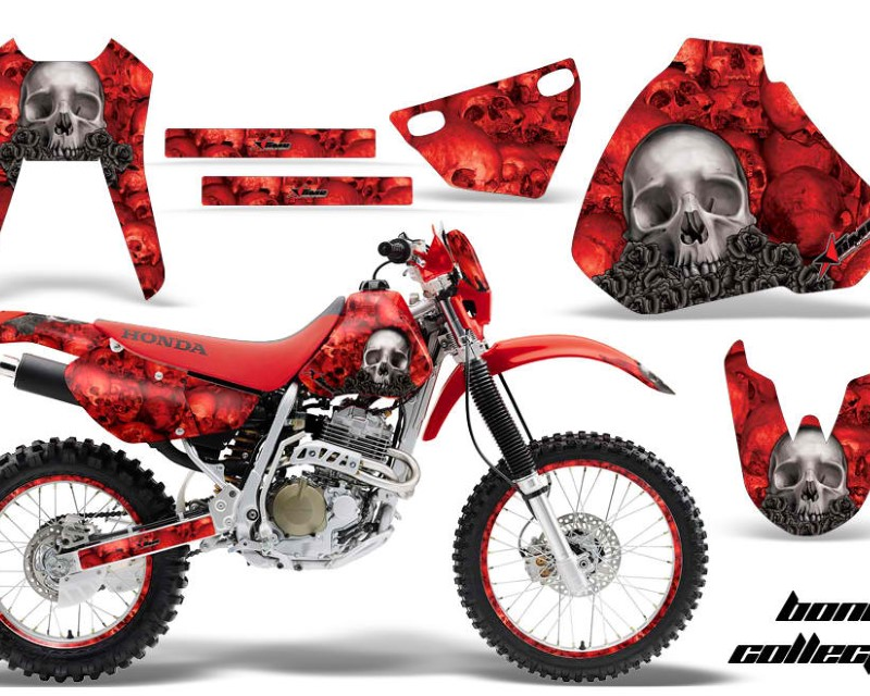 AMR Racing Graphics MX-NP-HON-XR400R-96-04-BC R Kit Decal Sticker Wrap + # Plates For Honda XR400R 1996-2004áBONES RED