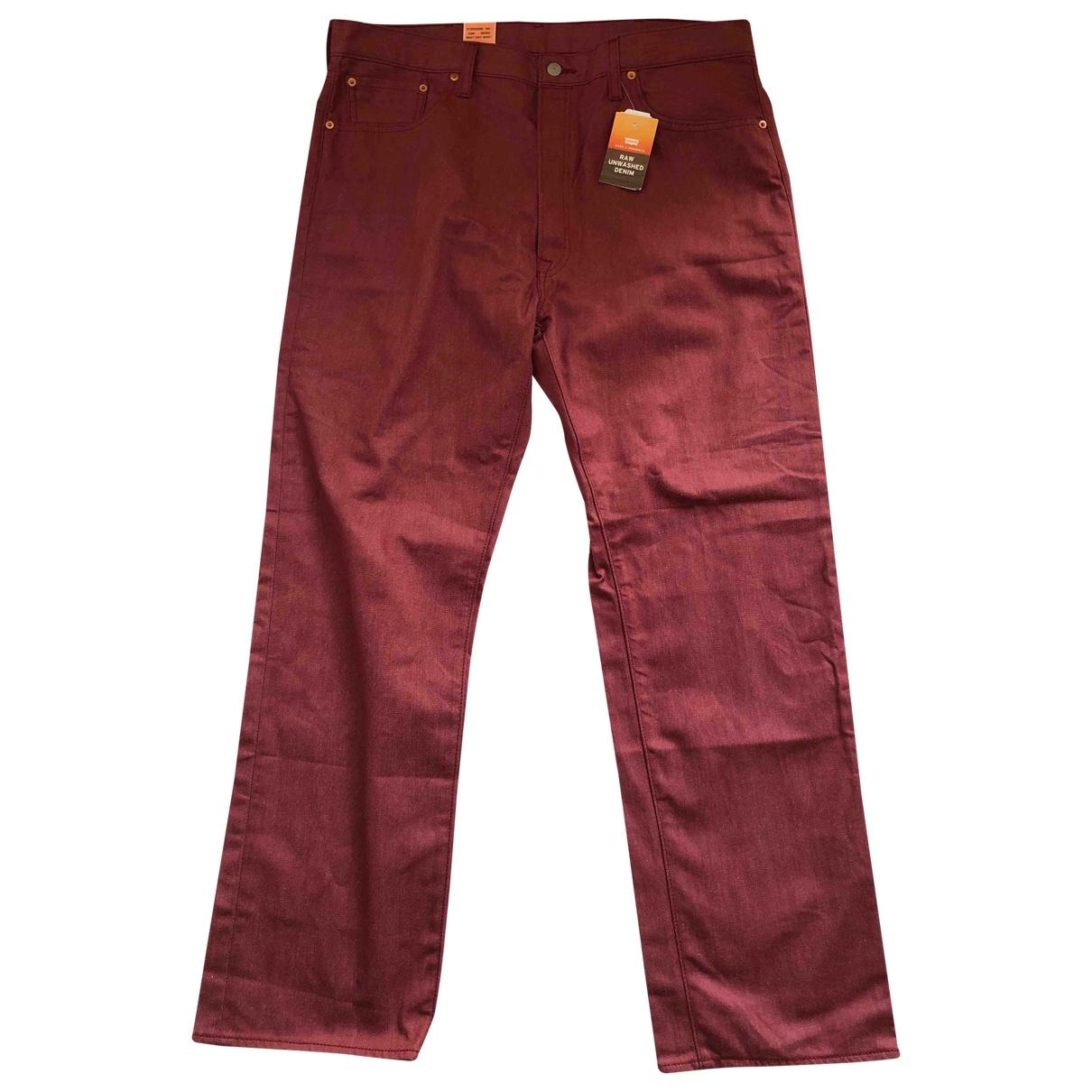 Levi's 501 Burgundy Cotton Jeans for Men 36 US