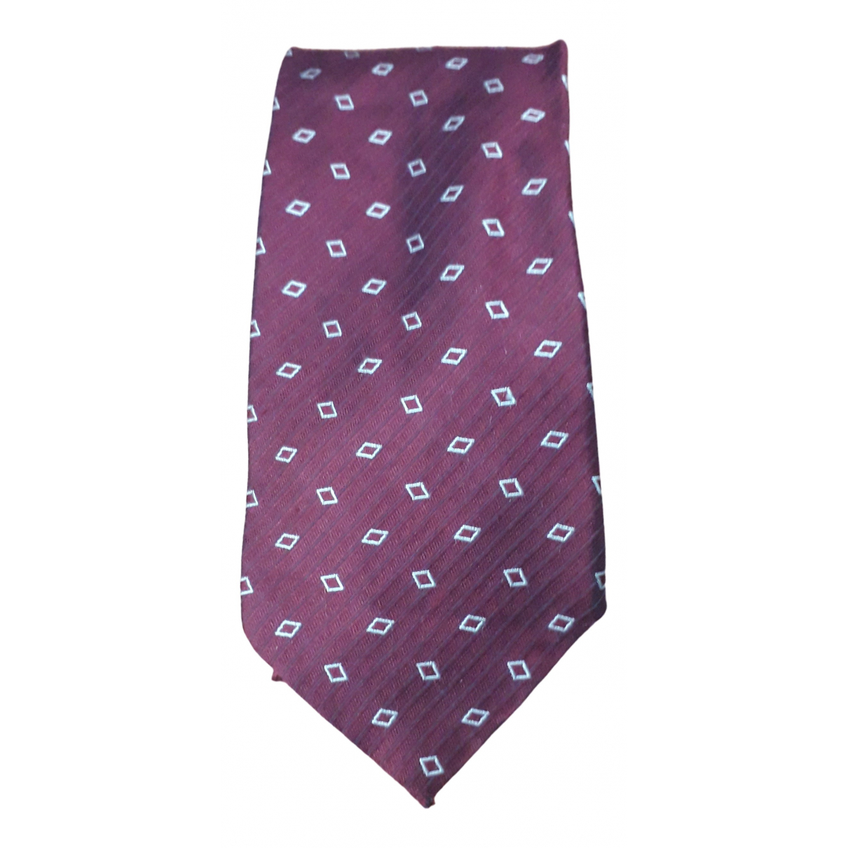Armani Collezioni \N Burgundy Silk Ties for Men \N