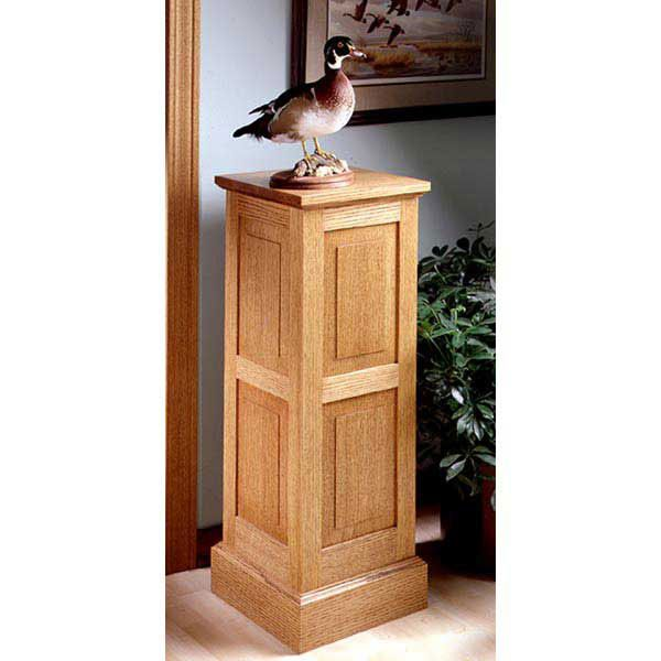 Woodworking Project Paper Plan to Build Panel-and-Frame Pedestal