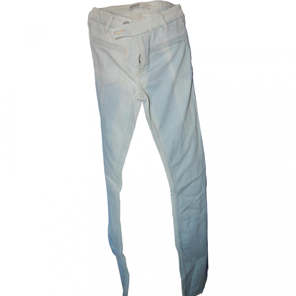 Zara \N Blue Denim - Jeans Jeans for Women 34 FR