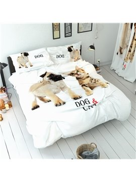 Three-Piece Set Duvet Cover Set Reactive Printing Polyester Bedding Sets