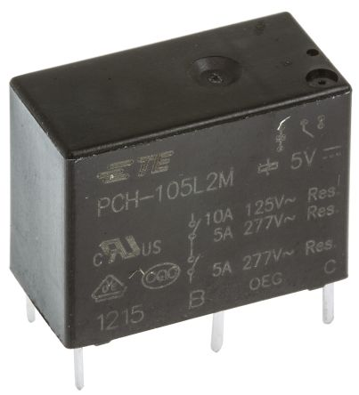 TE Connectivity PCH Series Relay,1CO,10A 120ac,5dc 200mW