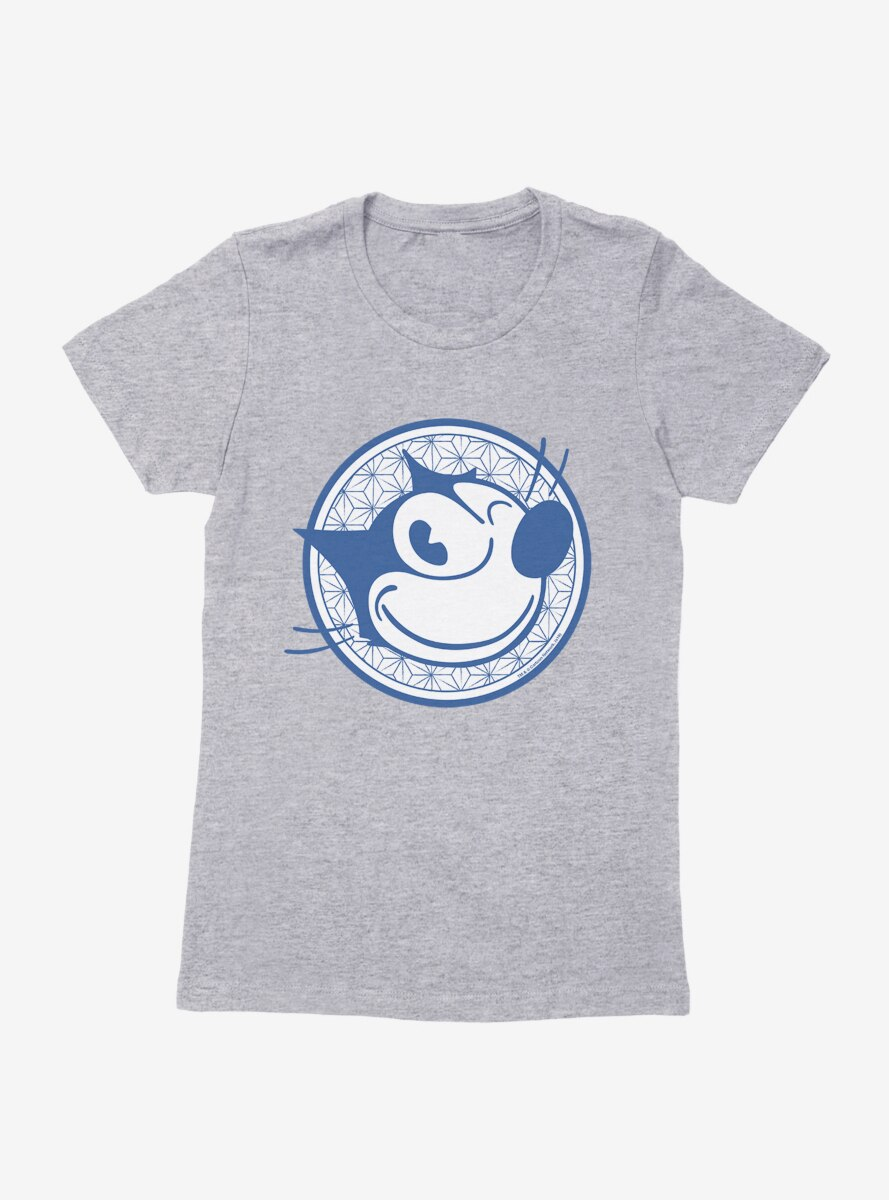Felix The Cat Face Circle Logo Womens T-Shirt