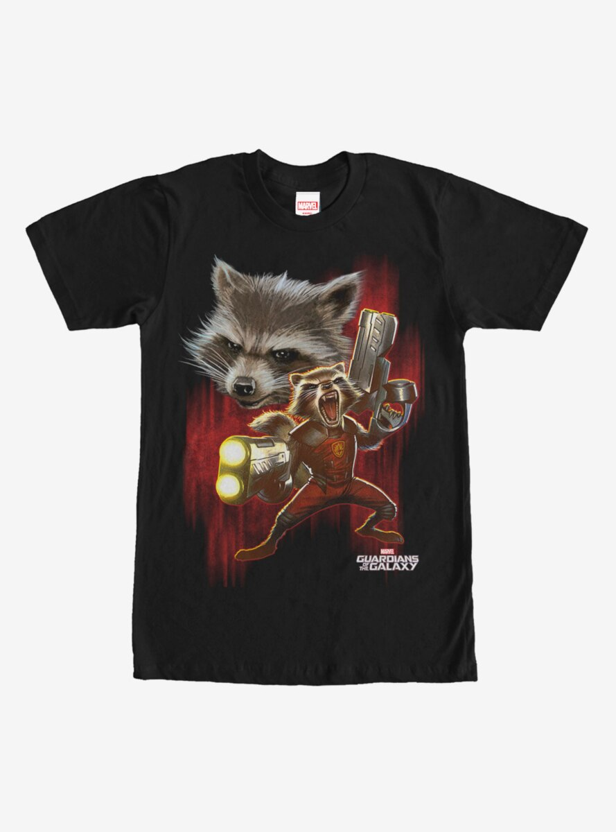 Marvel Guardians of the Galaxy Rocket Fight T-Shirt