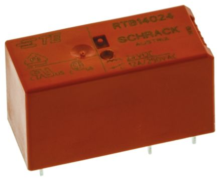 TE Connectivity , 24V dc Coil Non-Latching Relay SPDT, 12A Switching Current PCB Mount Single Pole