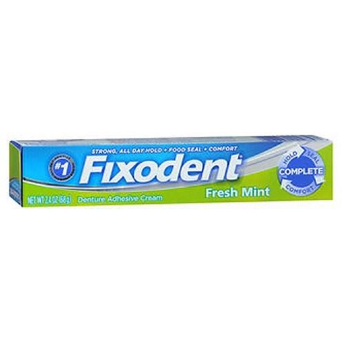 Fixodent Fresh Denture Adhesive Cream 2.4 Oz by Fixodent