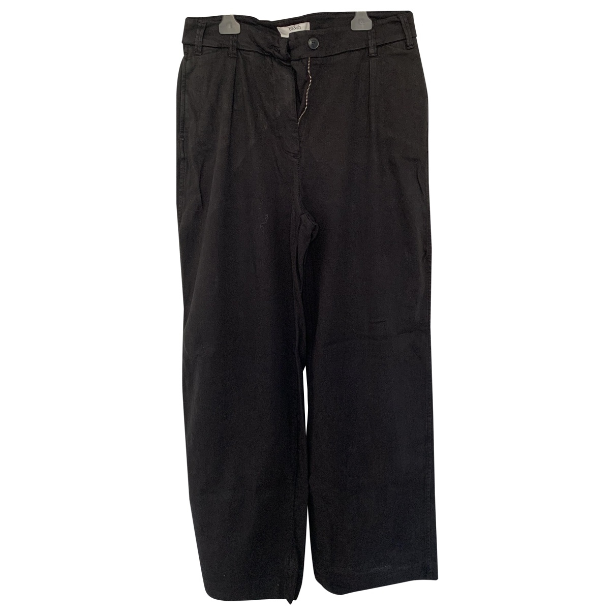 Ba&sh Fall Winter 2019 Black Linen Trousers for Women 1 0-5