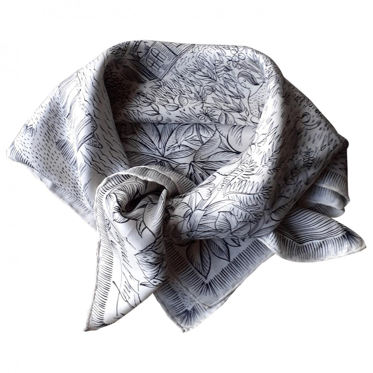 Jacques Fath \N White Silk Silk handkerchief for Women \N