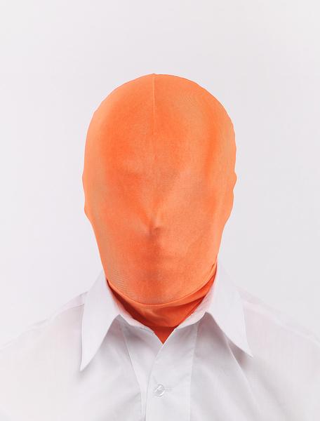 Milanoo Halloween Fashion Orange Unisex Lycra Spandex Hoods Halloween