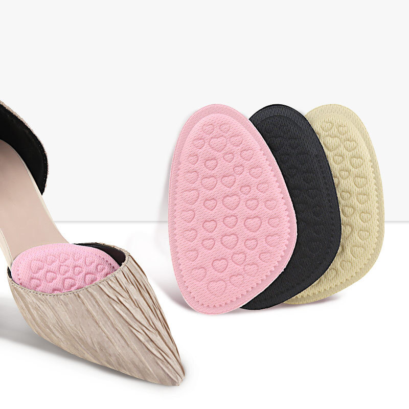 Sponge Forefoot Insole Soft Breathable Non-Slip Shock Absorption Massage Women High Heel Foot Pad