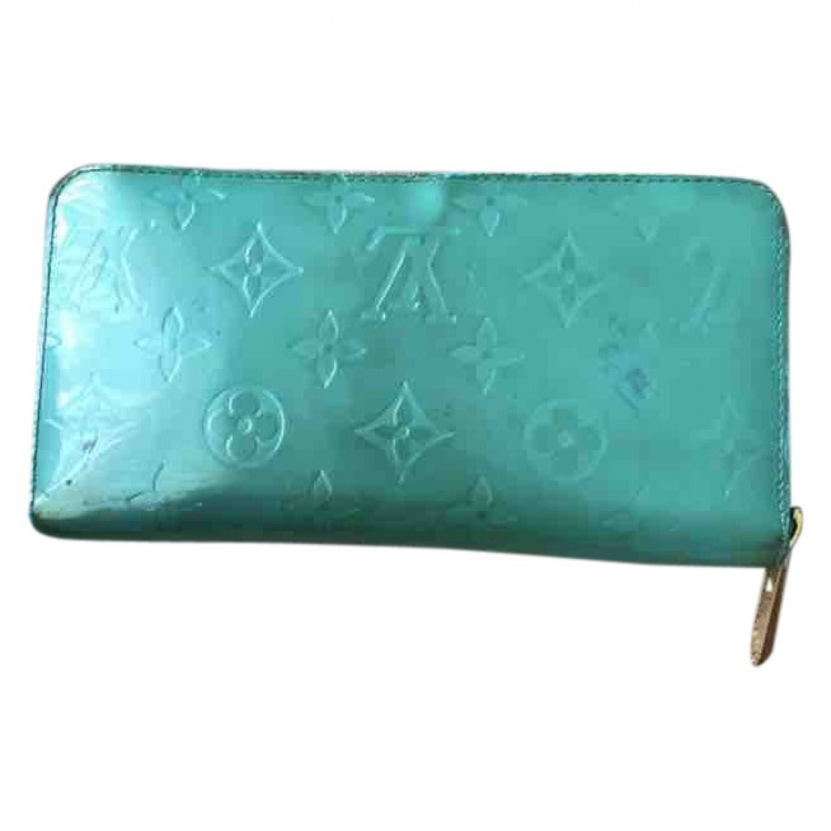 Louis Vuitton \N Turquoise Patent leather Clutch bag for Women \N