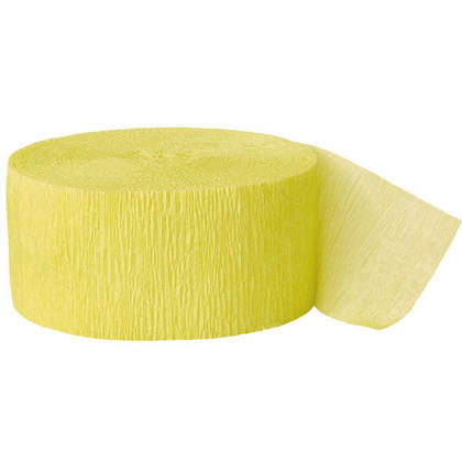 Décorations de fête Party Streamer Crepe Paper 81 ft - Canari Yellow
