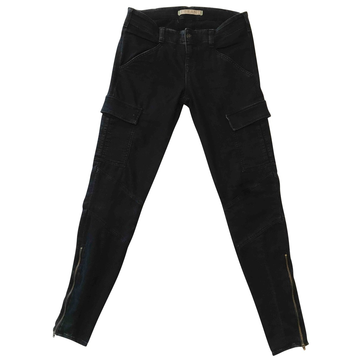 J Brand \N Blue Cotton Trousers for Women 4 US