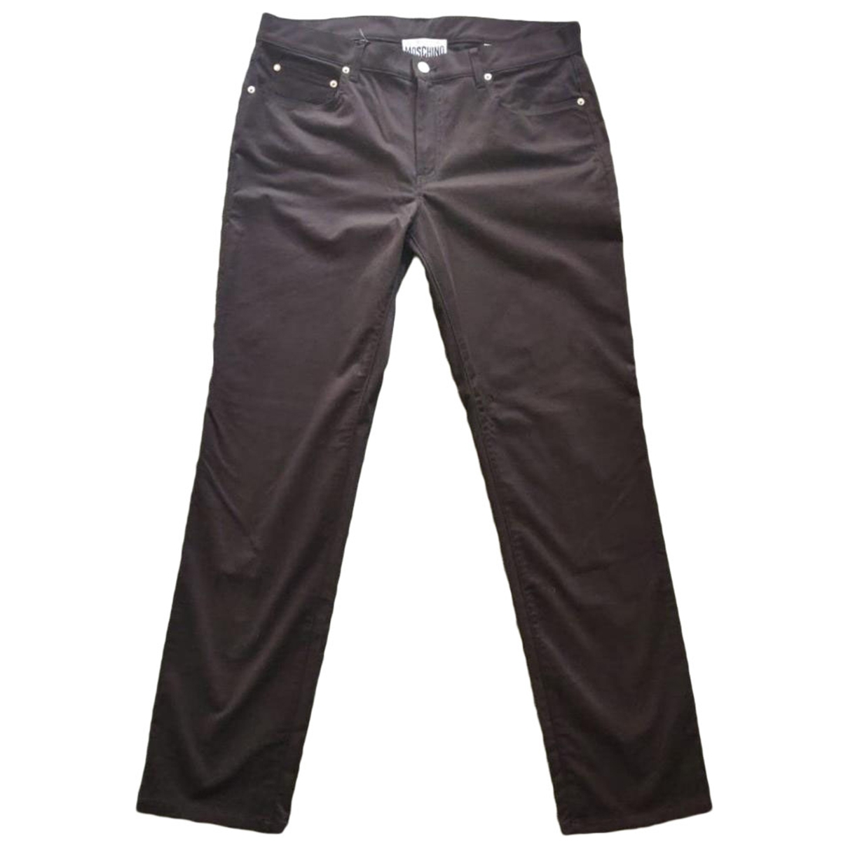 Moschino \N Black Cotton Trousers for Men 56 IT