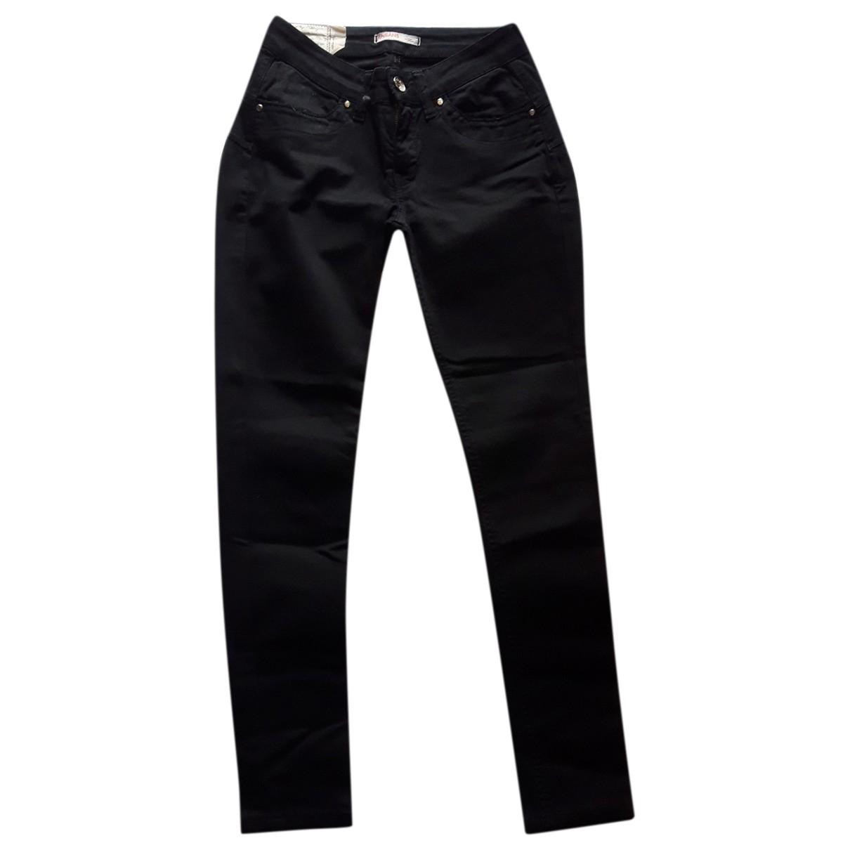 Liu.jo \N Black Cotton Trousers for Women 40 IT