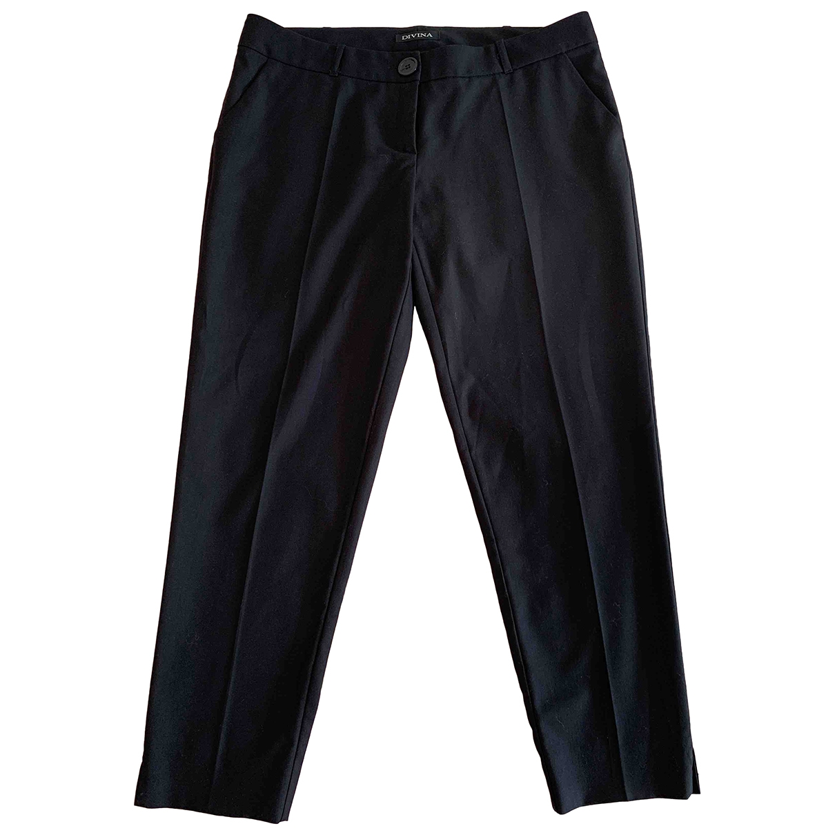Non Signé / Unsigned \N Black Trousers for Women 46 IT
