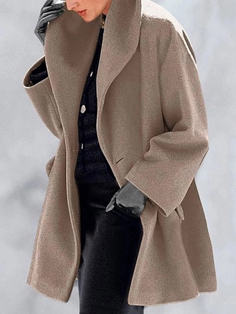 Ericdress Loose One Button Lapel Women's Overcoat