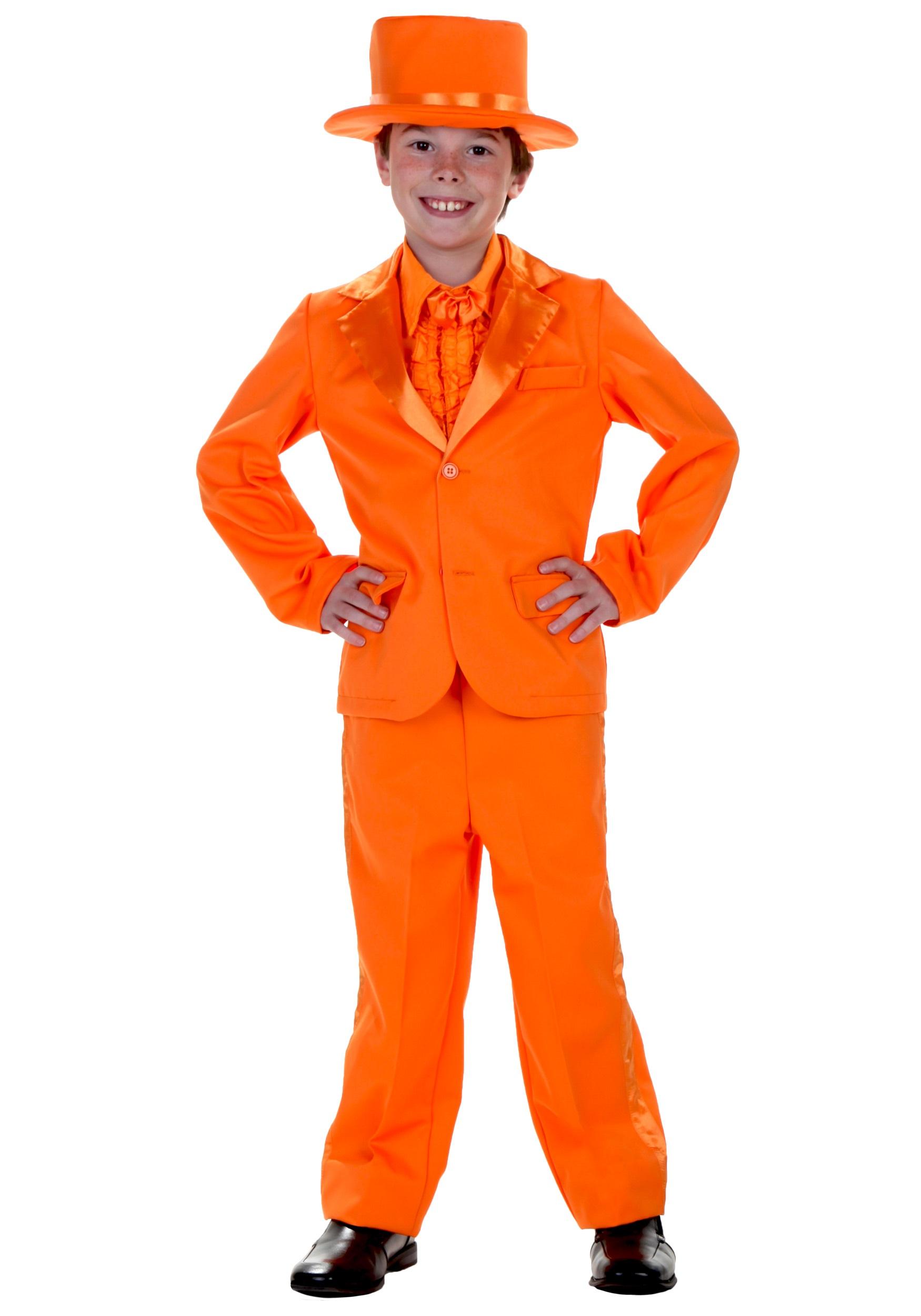 Orange Tuxedo Costume for Kids