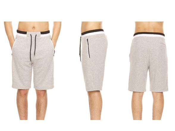 Mens French Terry Shorts W Contrast Trim