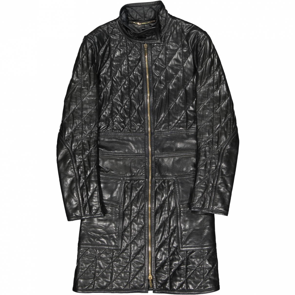 Gucci \N Black Leather coat for Women 38 IT