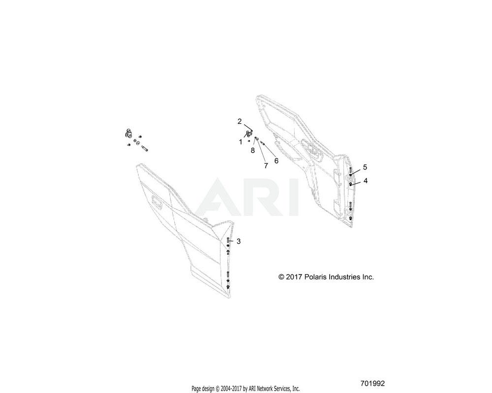 Polaris OEM 7519781 SCR-HH-M8X1.25X55 8.8 ZOD