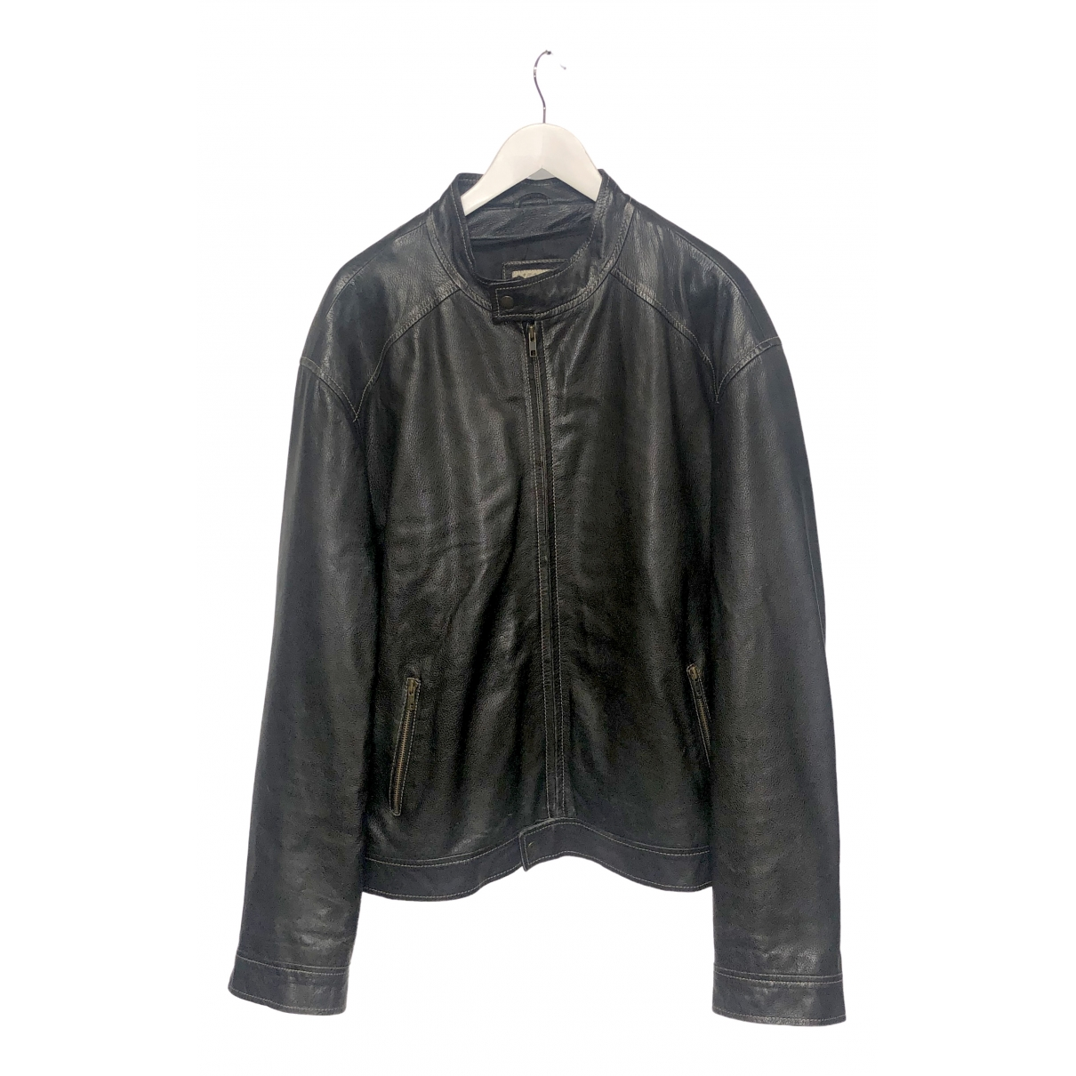Non Signé / Unsigned \N Brown Leather jacket  for Men 56 IT