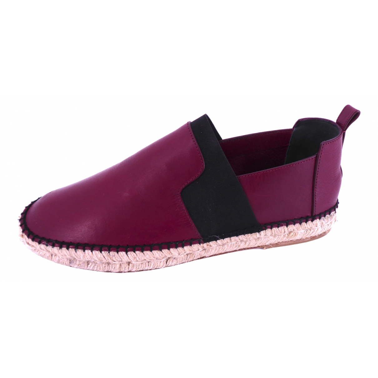 Balenciaga \N Burgundy Leather Espadrilles for Men 44 EU