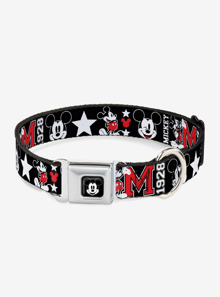 Disney Classic Mickey Mouse 1928 Collage Dog Collar Seatbelt Buckle