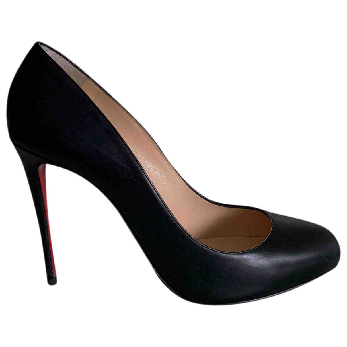 Christian Louboutin Fifi  Black Leather Heels for Women 41 EU