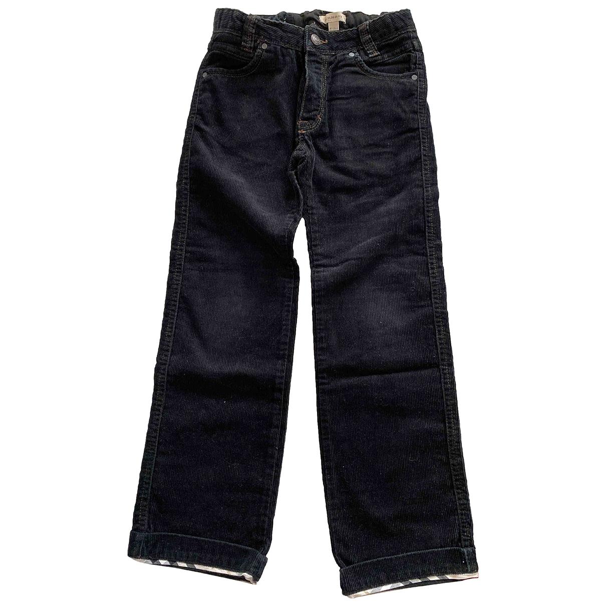 Burberry \N Black Velvet Trousers for Kids 8 years - up to 128cm FR