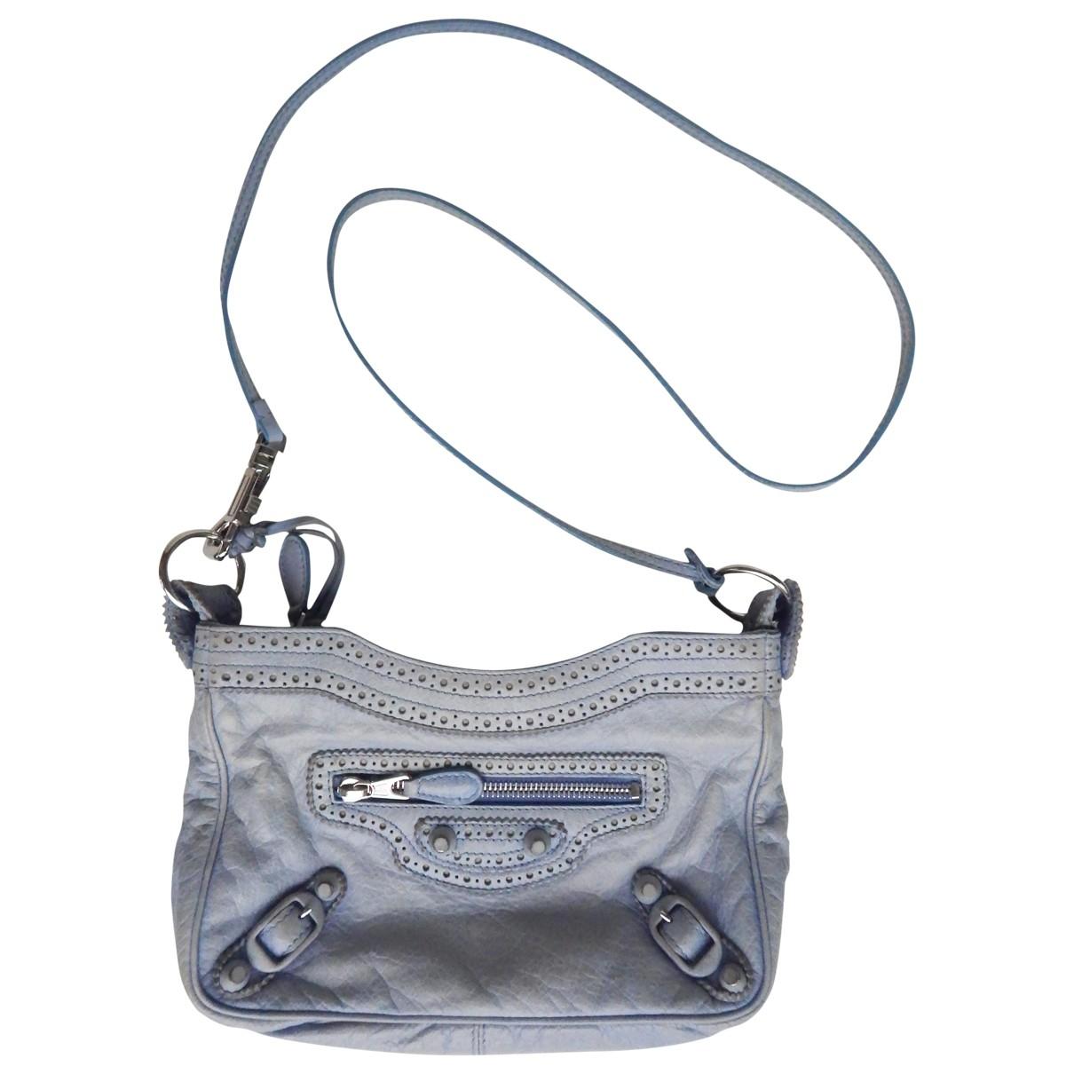 Balenciaga \N Blue Leather Clutch bag for Women \N