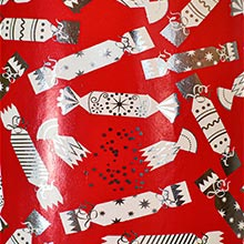 #k9191 Party Poppers - Gift Wrap - 30 X 833' - - Gift Wrapping Paper by Paper Mart