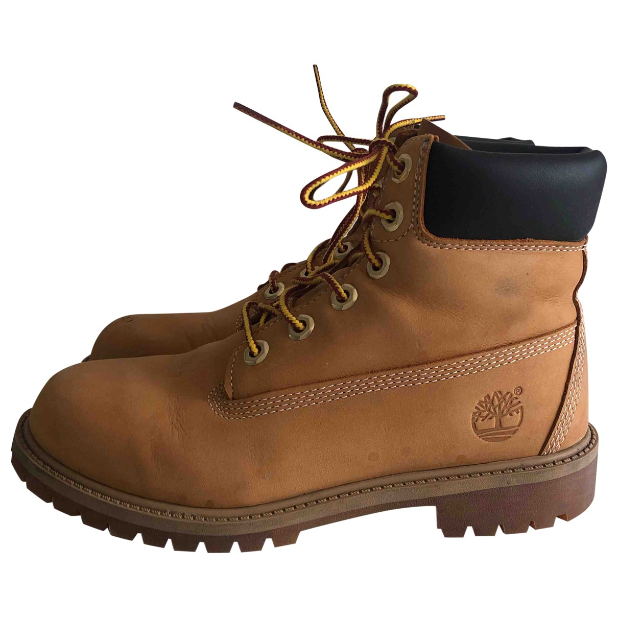 Timberland \N Yellow Leather Ankle boots for Women 37 EU