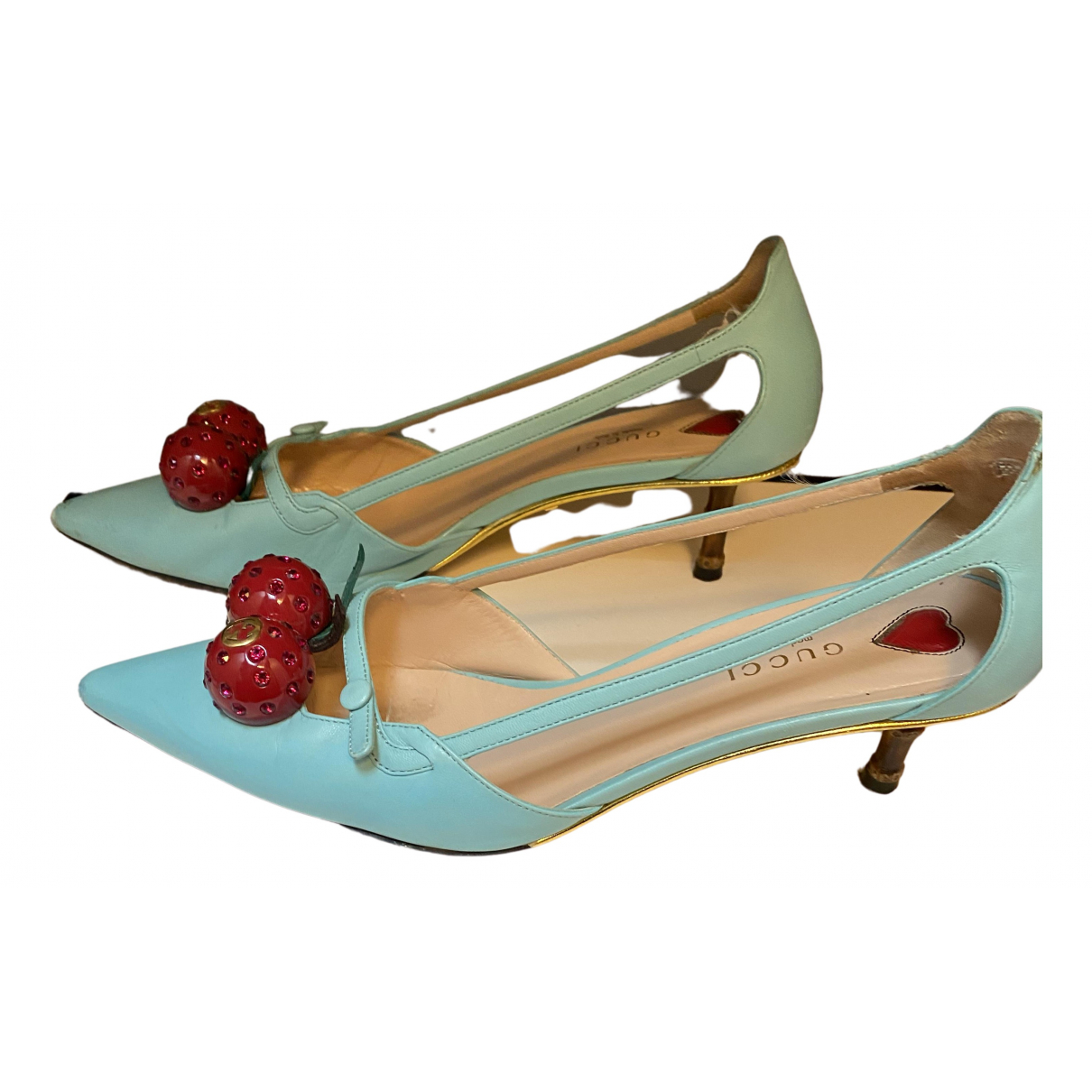 Gucci \N Leather Heels for Women 38.5 IT