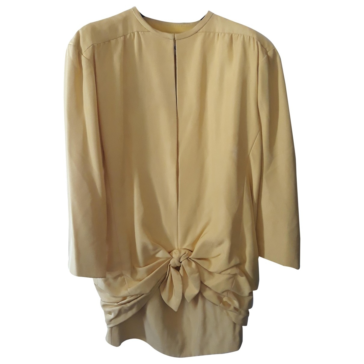 Guy Laroche \N Yellow Silk jacket for Women 40 FR