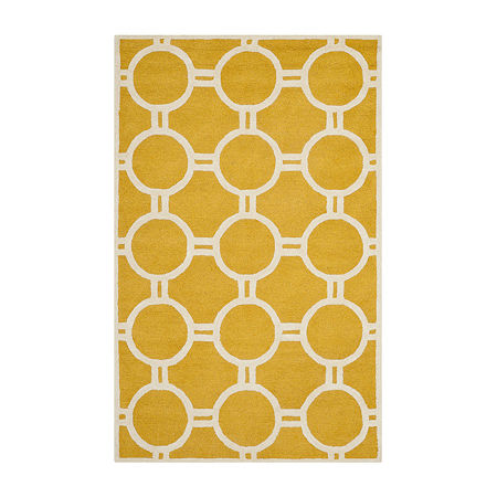 Safavieh Burke Geometric Hand-Tufted Wool Rug, One Size , Yellow