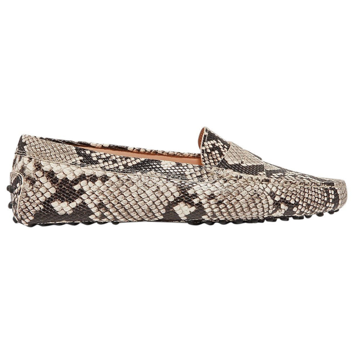Tod's Gommino Brown Leather Flats for Women 34.5 EU